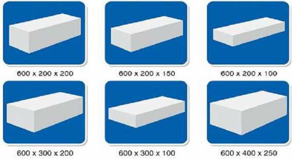 Газобетонные блоки характеристики и размеры