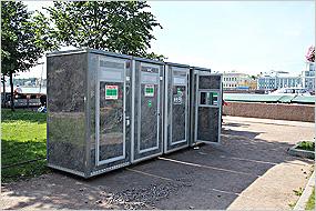 Характеристики туалетных модулей
