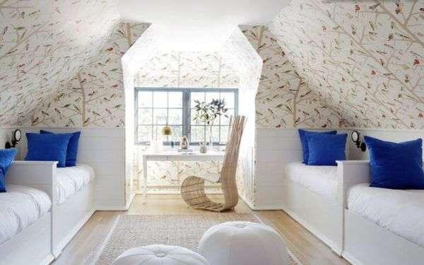 Изящный интерьер стен спальни